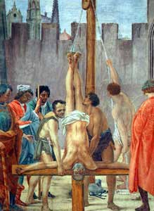Which apostle was crucified upside down