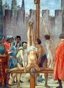 Simon peter crucified upside down