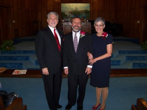 After installation service, with Bishop Drake. A good looking couple, eh?