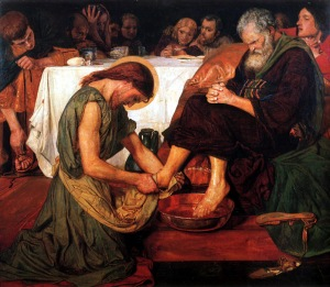 Jesus Washing Peter's Feet -- Ford Madox Brown